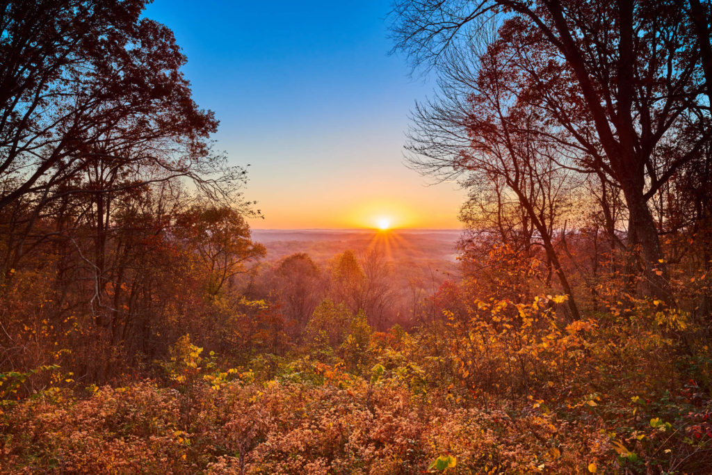Sunrise at Brown Co. State Park, IN